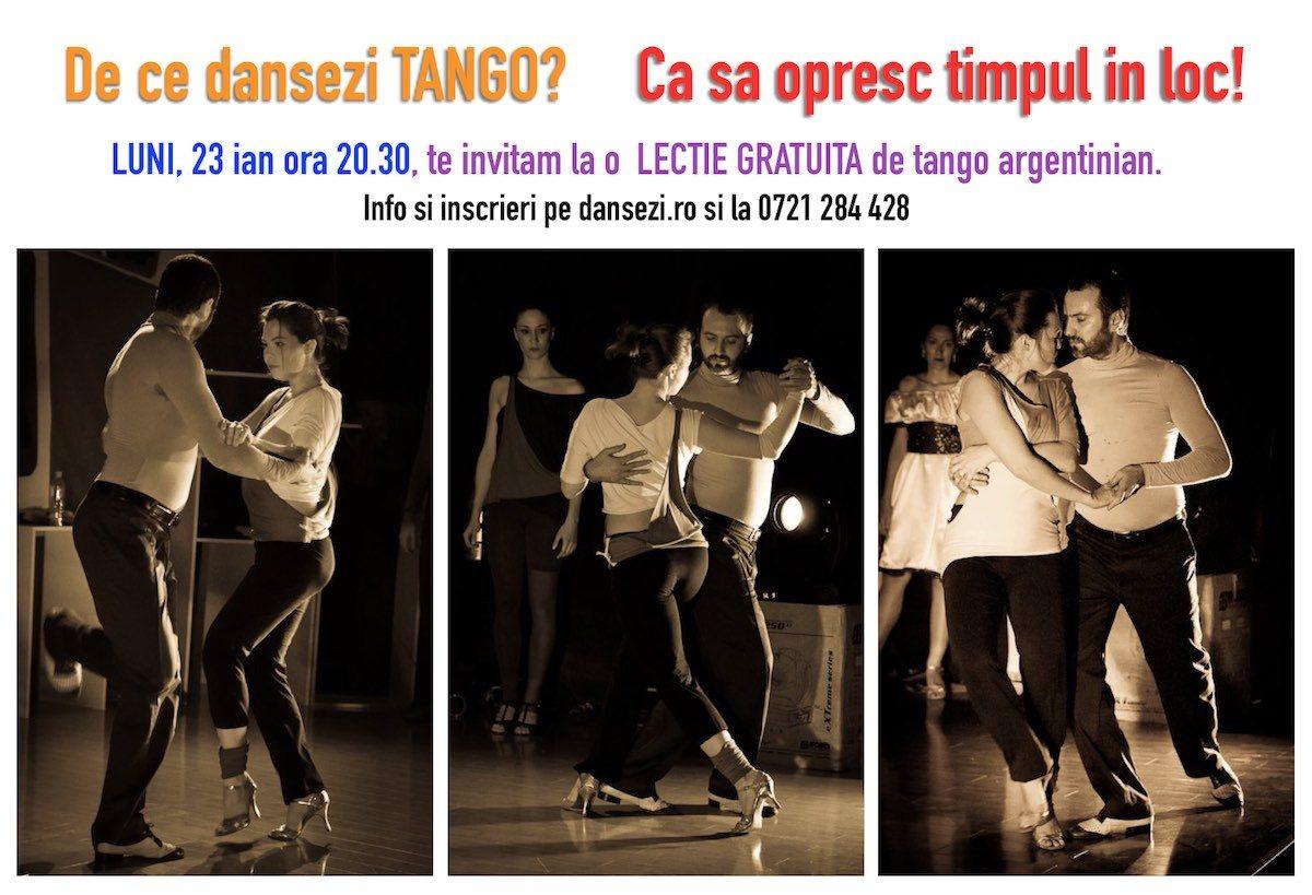 lecție gratuită si curs de tango