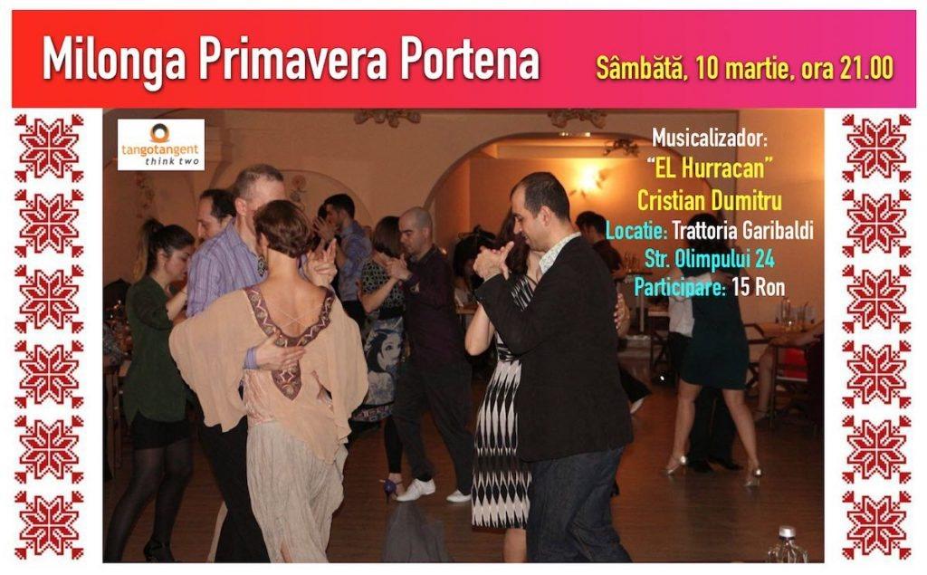 Milonga Primavera Portena - pe 10 martie, Trattoria Garibaldi