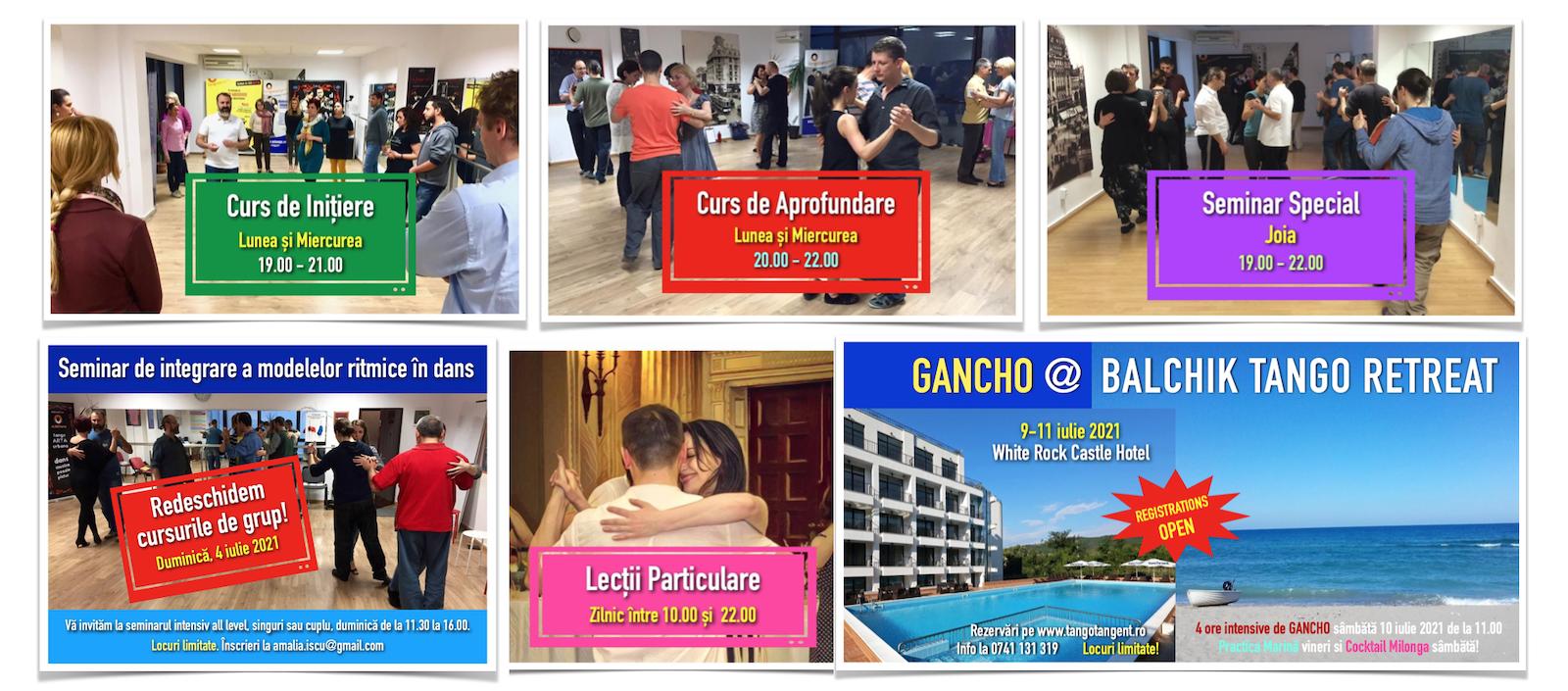 program cursuri lectii tango tangent